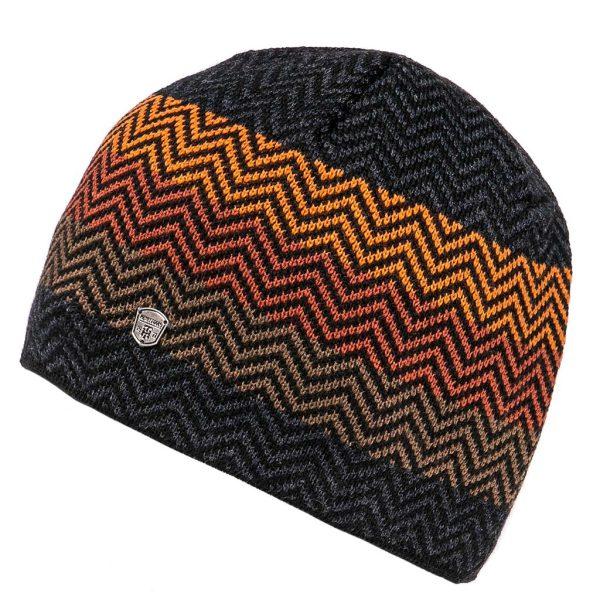 Πλεκτός Ριγέ Σκούφος Knitted Pattern Hat HEAVY TOOLS PNED Πορτοκαλί