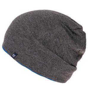 Σκούφος Διπλής Όψης Knitted Reversible Hat HEAVY TOOLS POTEK19 σκούρο Γκρι (Γαλάζιο εσωτερικό)