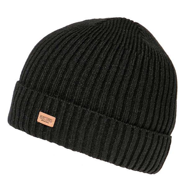 Πλεκτός Ριγέ Σκούφος Knitted Hat HEAVY TOOLS PYRON Μαύρο