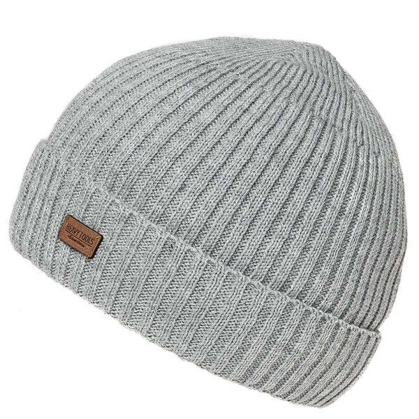Πλεκτός Ριγέ Σκούφος Knitted Hat HEAVY TOOLS PYRON Γκρι