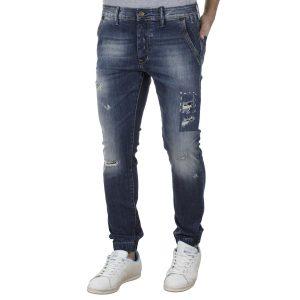 Τζιν Παντελόνι με Λάστιχα Slim SHAFT Jeans 5709 Μπλε