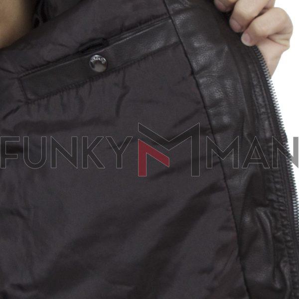 Μπουφάν Biker Jacket SPLENDID 40-201-013 Καφέ