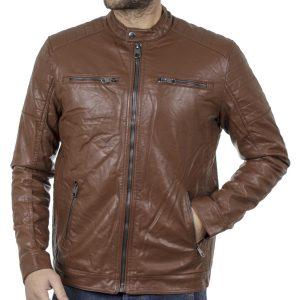 Μπουφάν Biker Jacket SPLENDID 42-201-015 Camel