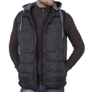 Αμάνικο Μπουφάν Γιλέκο με Κουκούλα Puffer Jacket SPLENDID 42-202-001 Μαύρο
