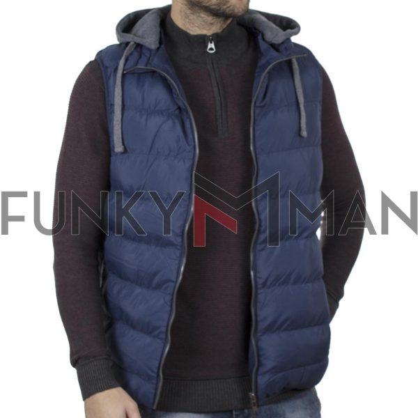 Αμάνικο Μπουφάν Γιλέκο με Κουκούλα Puffer Jacket SPLENDID 42-202-001 Μπλε