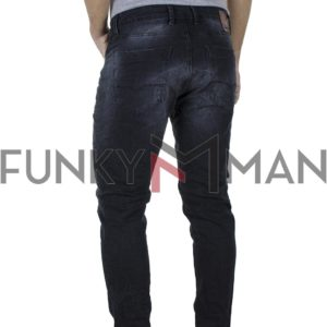 Τζιν Παντελόνι Slim Fit Back2jeans T8 Blueblack