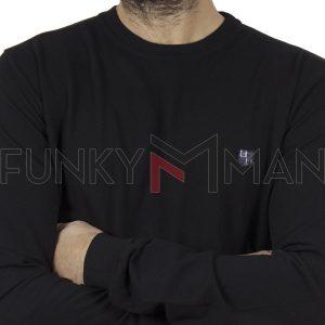 Mακρυμάνικη Μπλούζα CARAG 99-200-20N Μαύρο