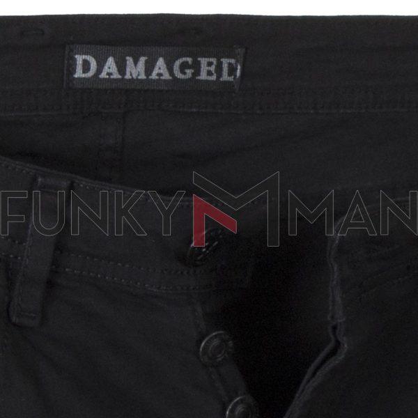 Τζιν Παντελόνι Slim DAMAGED R15 Μαύρο