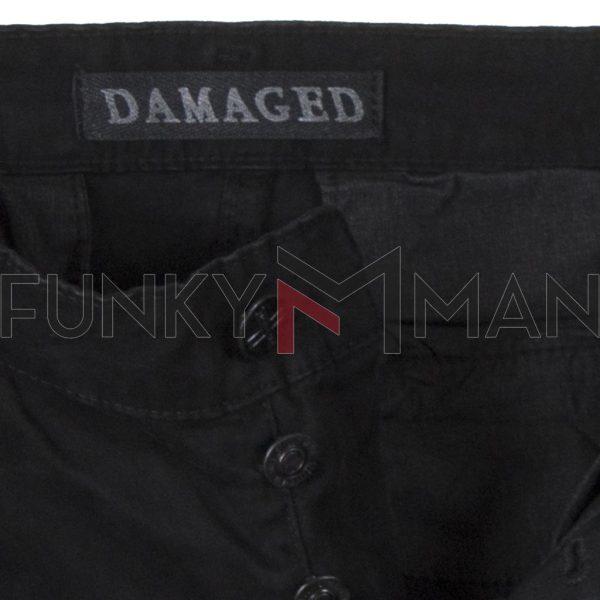 Cargo Παντελόνι με Λάστιχα DAMAGED R33C Army 3D fit Μαύρο