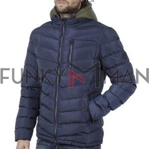 Φουσκωτό Μπουφάν με κουκούλα Puffer Jacket SPLENDID 42-201-008 Navy