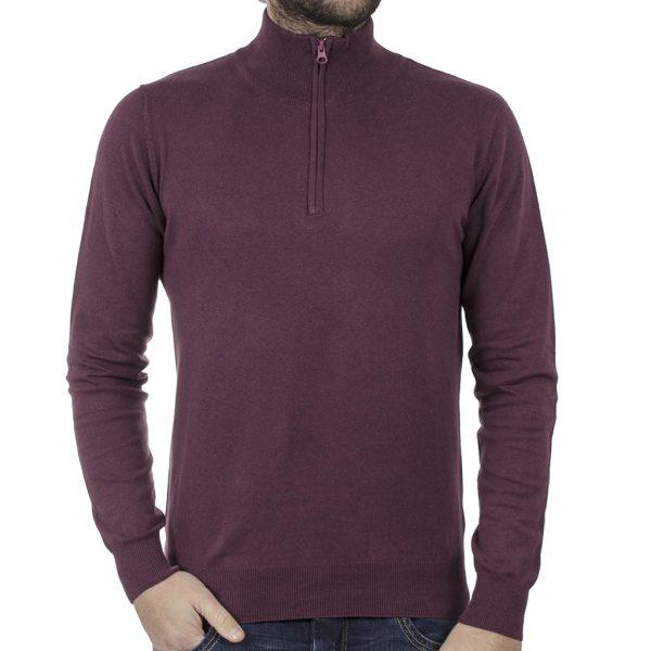 Πουλόβερ Πλεκτή Μπλούζα SMART & CO 40-206-024 Wine Red