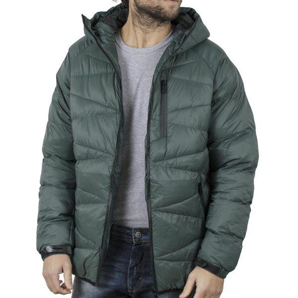 Φουσκωτό Μπουφάν με κουκούλα Puffer Jacket SPLENDID 42-201-045 Πράσινο