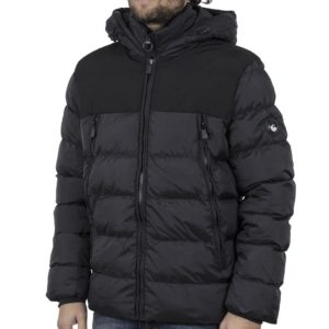 Φουσκωτό Μπουφάν με κουκούλα Puffer Jacket SPLENDID 42-201-032 Μαύρο