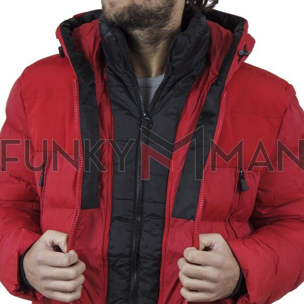 Φουσκωτό Μπουφάν με κουκούλα Puffer Jacket SPLENDID 42-201-032 Κόκκινο