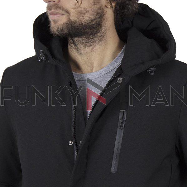 Μακρύ Μπουφάν Parka Jacket με Κουκούλα SPLENDID 42-201-044 Μαύρο