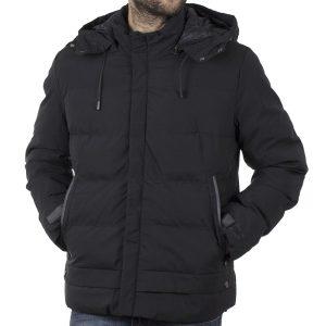 Φουσκωτό Μπουφάν με κουκούλα Puffer Jacket SPLENDID 42-201-048 Μαύρο