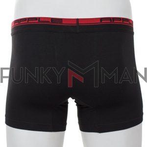 Εσώρουχο Boxer Apple 0110209 Μαύρο Κόκκινο