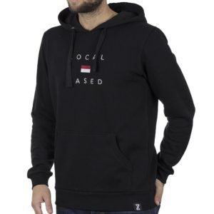 Μπλούζα Φούτερ με Κουκούλα Hoodie BigMan BM-550 Μαύρο