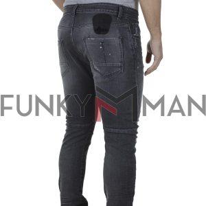 Τζιν Παντελόνι Skinny COVER BIKER Κ43541 Γκρι