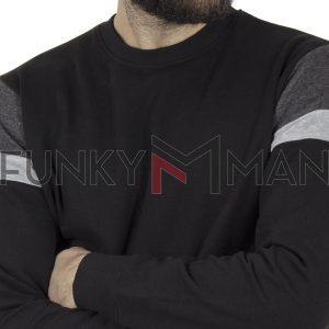 Φούτερ Βαμβακερή Μπλούζα DUKE 600465 CLERMONT 2 Μαύρο