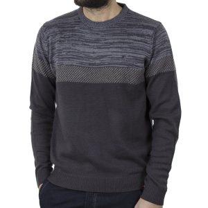 Πουλόβερ Πλεκτή Μπλούζα DUKE 800517 CORBY 1 Γκρι