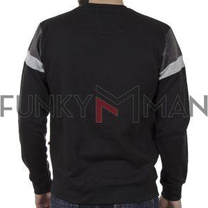Φούτερ Βαμβακερή Μπλούζα DUKE KS60465 CLERMONT 2 Μαύρο