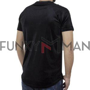 Κοντομάνικη Μπλούζα Βελούδο Fashion T-Shirt FREE WAVE 92112 Μαύρο