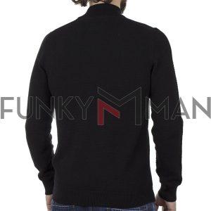 Μακρυμάνικο Πλεκτό Henley Garage55 002.001035 Μαύρο