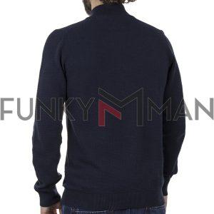 Μακρυμάνικο Πλεκτό Henley Garage55 002.001035 Navy