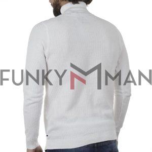 Ζιβάγκο Πλεκτή Μπλούζα SMART & CO 40-206-007 Λευκό