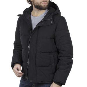 Φουσκωτό Μπουφάν με κουκούλα Puffer Jacket SPLENDID 42-201-003 Μαύρο