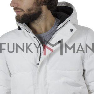 Φουσκωτό Μπουφάν με κουκούλα Puffer Jacket SPLENDID 42-201-003 Λευκό