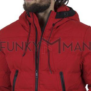 Φουσκωτό Μπουφάν με κουκούλα Puffer Jacket SPLENDID 42-201-026 Κόκκινο