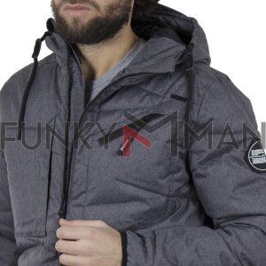 Φουσκωτό Μπουφάν με κουκούλα Puffer Jacket SPLENDID 42-201-040 Γκρι