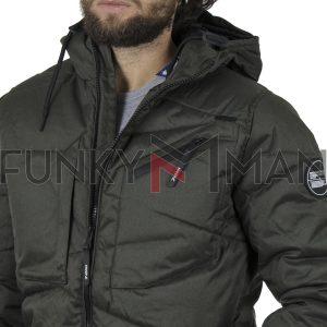 Φουσκωτό Μπουφάν με κουκούλα Puffer Jacket SPLENDID 42-201-040 Χακί