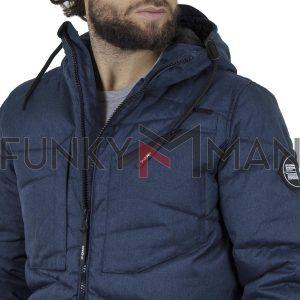 Φουσκωτό Μπουφάν με κουκούλα Puffer Jacket SPLENDID 42-201-040 Navy