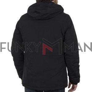 Μακρύ Μπουφάν Parka Jacket με Κουκούλα SPLENDID 40-201-049 Μαύρο