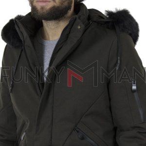 Μακρύ Μπουφάν Parka Jacket με Κουκούλα SPLENDID 40-201-054 σκούρο Πράσινο