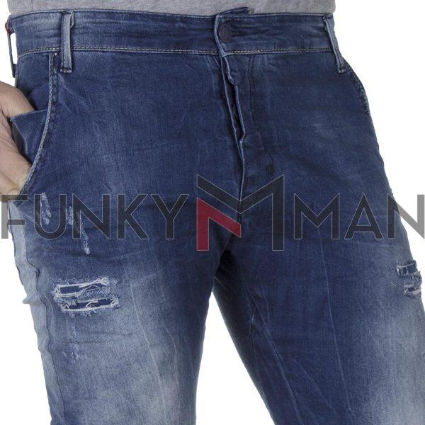 Τζιν Chinos Παντελόνι με Λάστιχα BLADE W29B SS20 MOTO FIT Μπλε