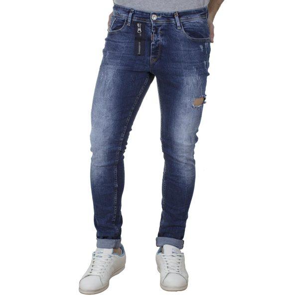 Τζιν Παντελόνι Back2jeans N27 SS20 Slim Basic Μπλε