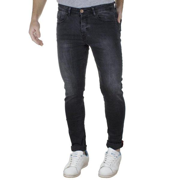 Τζιν Παντελόνι DAMAGED R15 SS20 Slim Basic Μαύρο