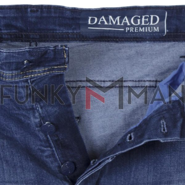 Τζιν Chinos Παντελόνι με Λάστιχα DAMAGED R29B SS20 MOTO FIT Μπλε