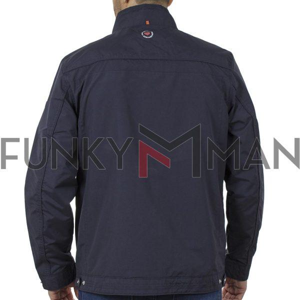 Ελαφρύ Μπουφάν Semi Long Jacket DOUBLE MJK-144 SS20 Navy
