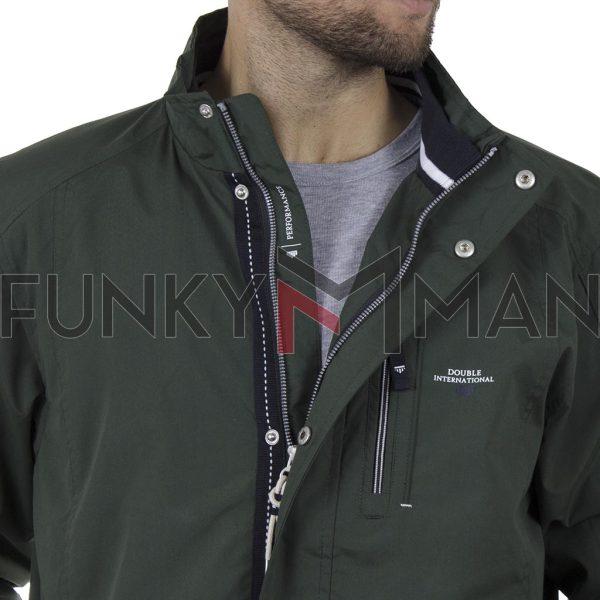 Ελαφρύ Μπουφάν Semi Long Jacket DOUBLE MJK-144 SS20 Pesto