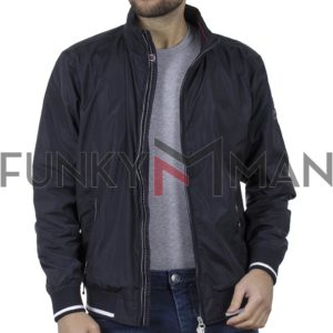 Ελαφρύ Μπουφάν Semi Short Jacket DOUBLE MJK-145 SS20 Navy