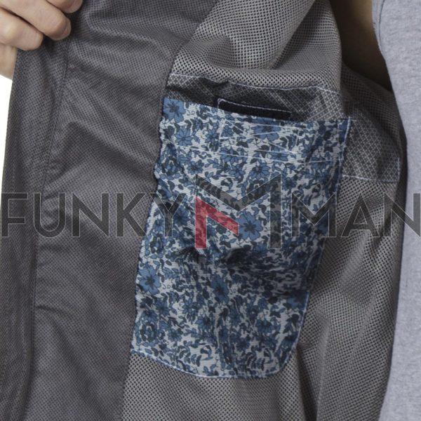 Ελαφρύ Μπουφάν Semi Short Jacket DOUBLE MJK-146 SS20 Γκρι