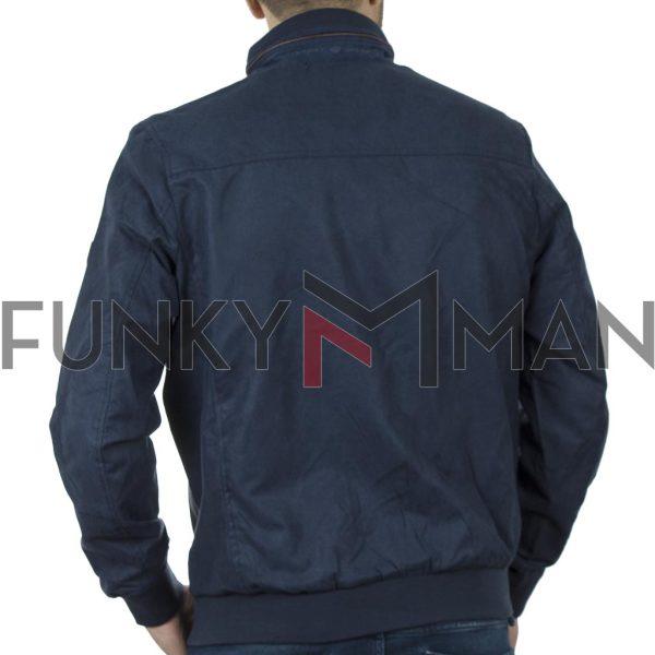 Ελαφρύ Μπουφάν Semi Short Jacket DOUBLE MJK-146 SS20 Indigo