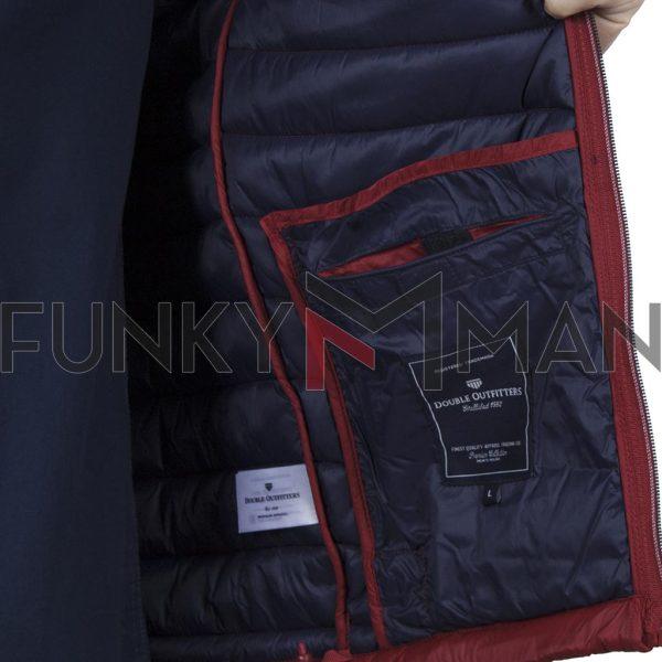 Αμάνικο Μπουφάν Puffer Vest Jacket DOUBLE SMJK-08 Κόκκινο Brick