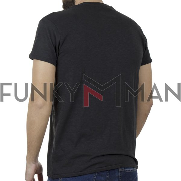 T-Shirt FUNKY BUDDHA FBM00104604 Ανθρακί