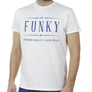 T-Shirt FUNKY BUDDHA FBM00104604 Λευκό